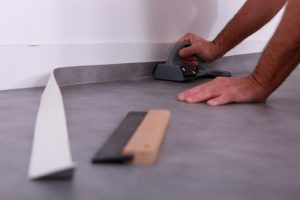 Goshen Linoleum Floor Installation